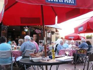 The patio at Uncle Bacala's in Garden City