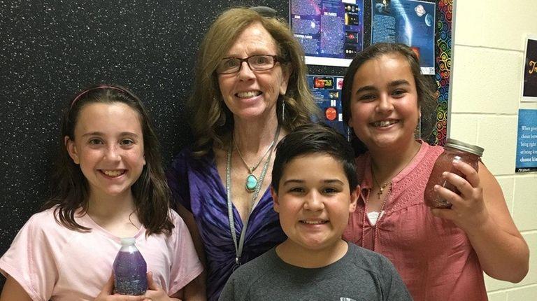 Kidsday reporters, from left, Carrie Davis, Jason Miletti
