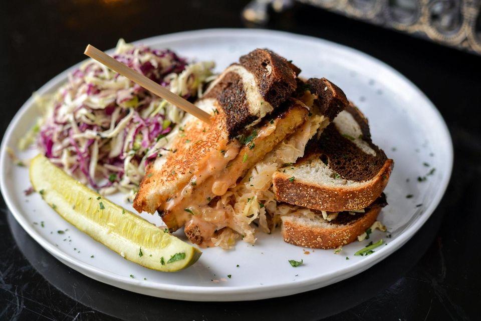 Vegan Reuben sandwich at Tula Kitchen (41 E.