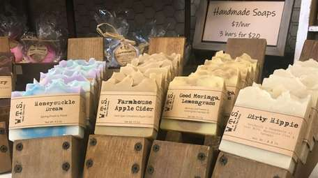 Soaps for sale at Hitch LI's holiday pop-up