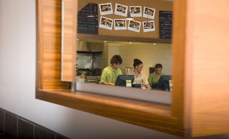 Kalamaki is a Greek restaurant in Roslyn. (July