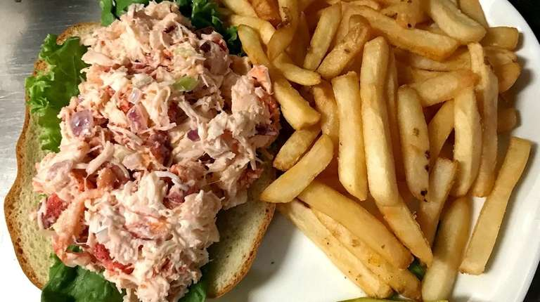 Lobster salad with french fries at River Walk