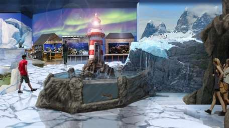 Rendering of a proposed interactive wildlife attraction that