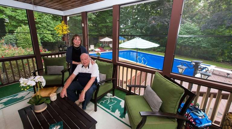 Ann and Richard Rudolph in their screened-in porch