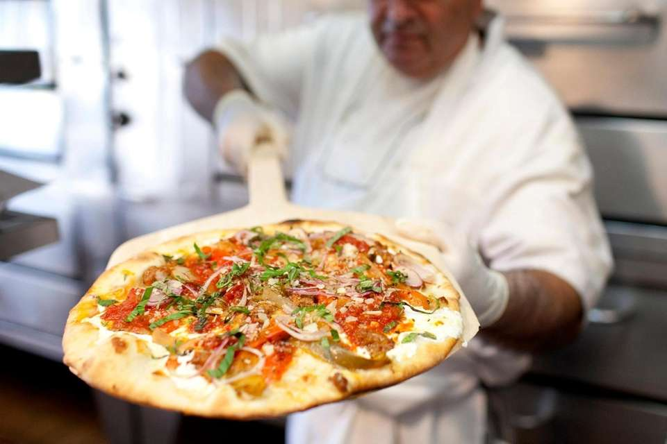 Frank Semisa with the San Genero Pizzarella at