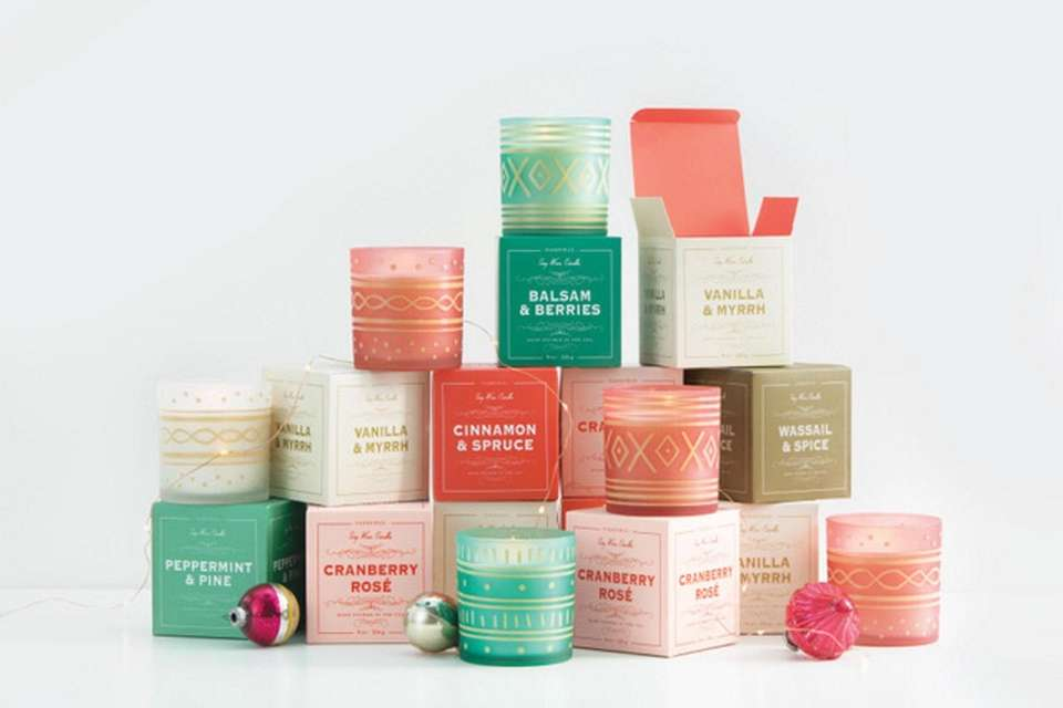 Glee candles, made of soy wax, come in