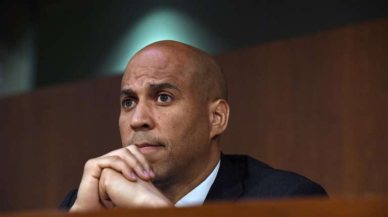Sen. Cory Booker, D-N.J., during a hearing at