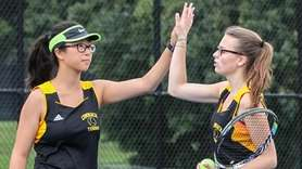 Christine Kong, left, and Emma Matz of Commack