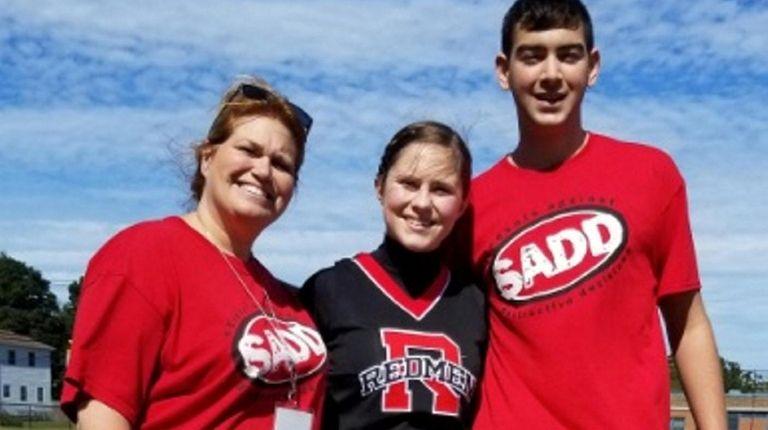 From left, East Islip High School teacher Bridget