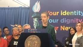 Actor Asia Kate Dillon spoke at SAGE National