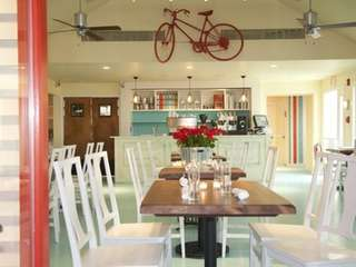 "The ""bicycle room"" at South Edison restaurant in"