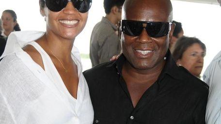 Bridgehampton- August 30:(l-r) Erica Reid and LA Reid