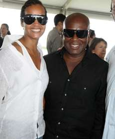 Bridgehampton- August 30:(l-r) Erica Reid and LA Reid