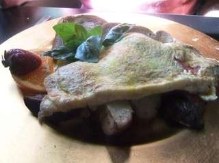 A Margherita omelet is served at Cornucopia's Noshery