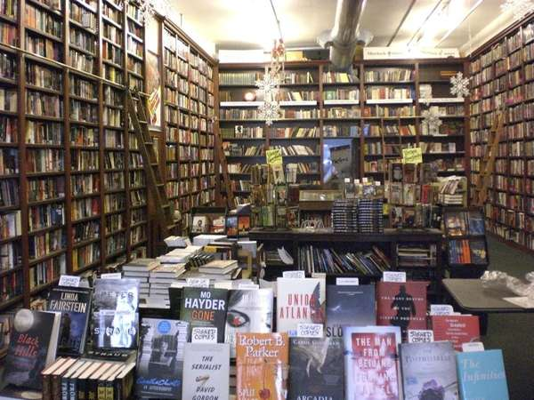 The Mysterious Bookshop, on Warren Street in Manhattan,
