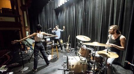 Morgan Saint during a rehearsal at the Vail