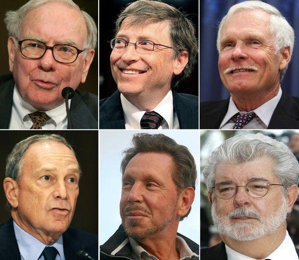 Clockwise from upper right: Investment guru Warren Buffett,