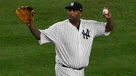 CC Sabathia on the mound during the 3rd