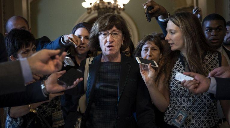 Democrats won support from Sen. Susan Collins (R-Maine),