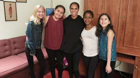 Misty Copeland with Kidsday reporters, from left, Annelisa