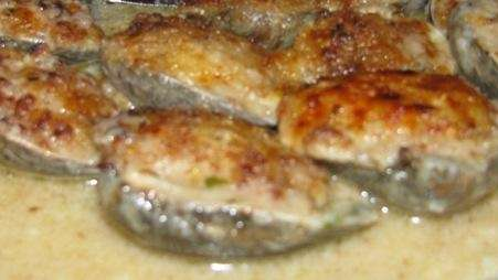 Baked clams are served at Steve's Piccola Bussola