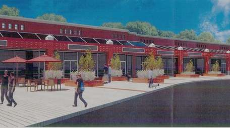 The shopping center, seen in an architect's rendering,