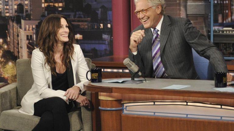 Actress Julia Roberts joins Late Show host David