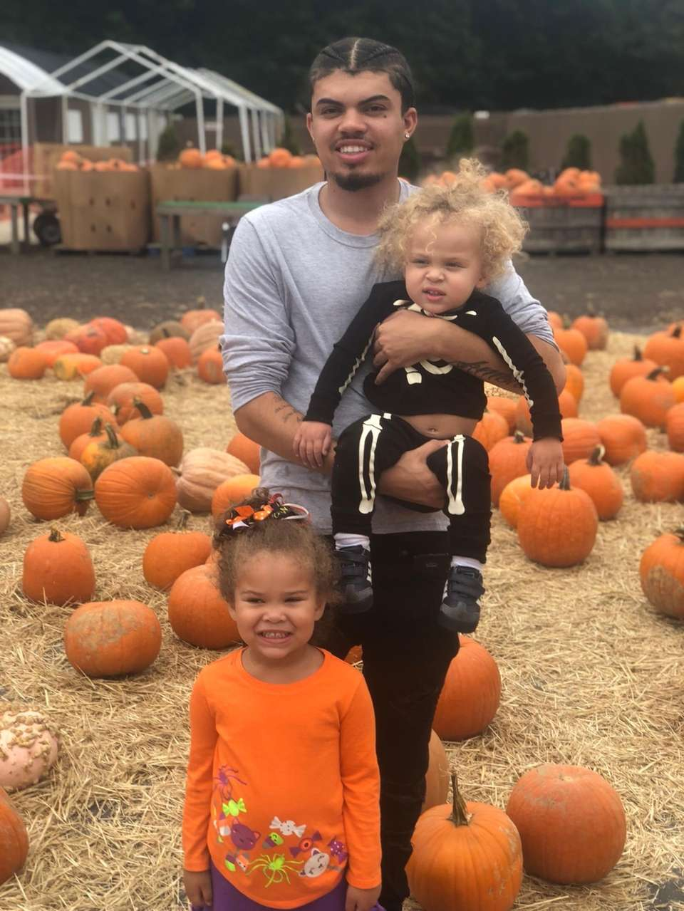 Pumpkin Picking Elijah Koso 23 With his sister