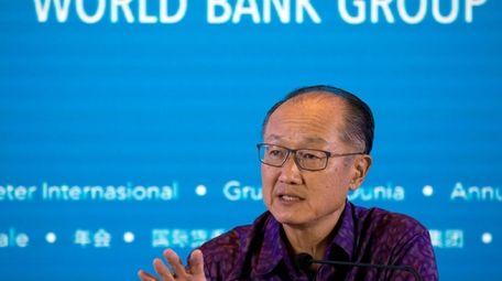 World Bank President Jim Yong Kim speaks during
