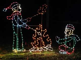 The Riverhead Holiday Light Show will kick off