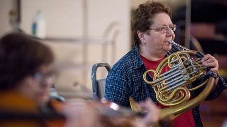 Phyllis Manville of North Great River plays the