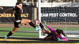 St. Anthony forward Brianna Passaro kicks in the