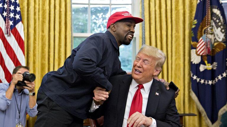 Resultado de imagen para kanye west and donald trump