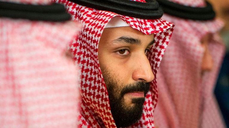 Saudi Crown Prince Mohammed bin Salman meets with