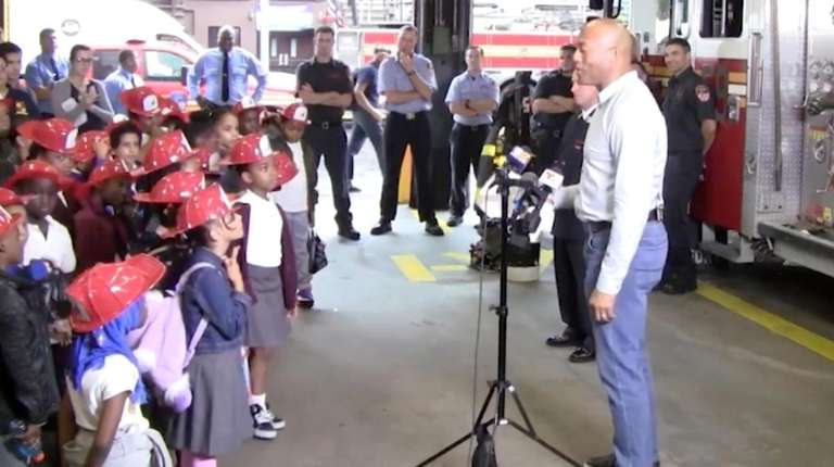 Mariano Rivera met with students from PS 175