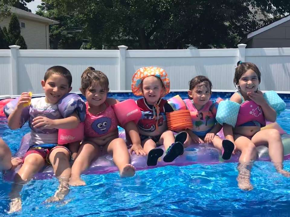 Cousins enjoying some pool time