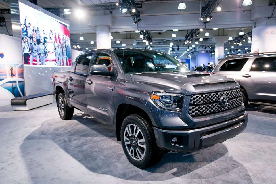 The Toyota Tundra on display at the New