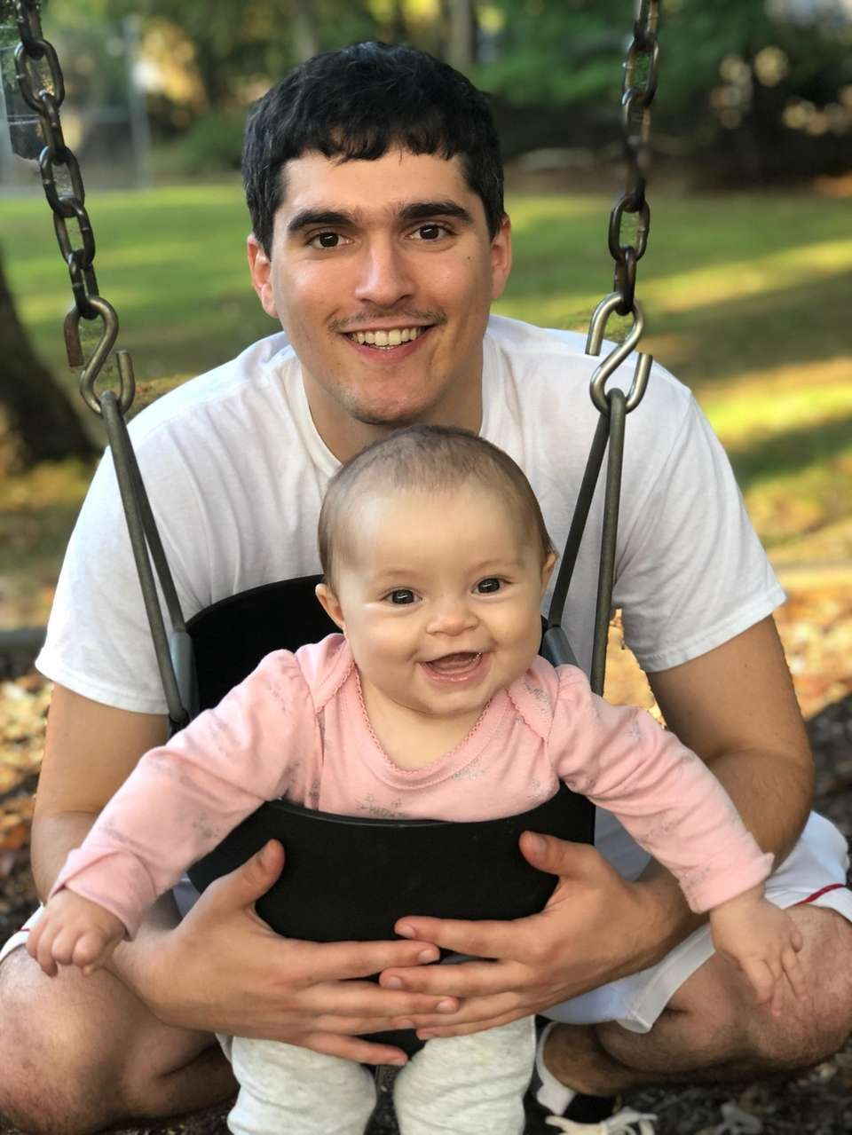 Charles Demaio and his daughter Blakely DeMaio playing