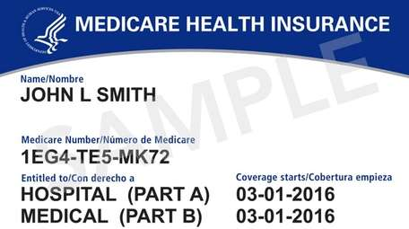 Example of a Medicare card.