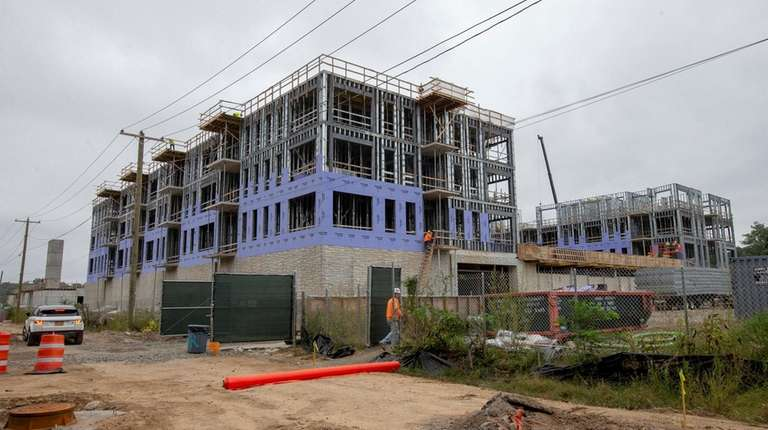 The Garvies Point development project under construction on