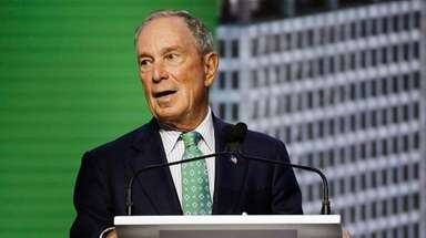 Michael Bloomberg speaks at the Global Action Climate