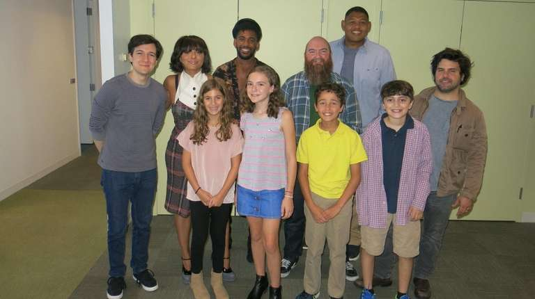 The new cast and producers of the Nickelodeon