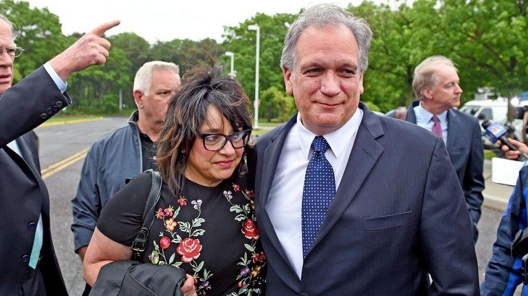 Linda Mangano and her husband, former Nassau County