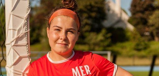 Malverne/East Rockaway girls soccer player, Kailey Hyland during