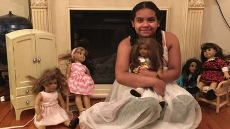 Kidsday reporter Eve Arevalo with her American Girl