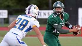 Lindenhurst QB Michael Varela is forced out of