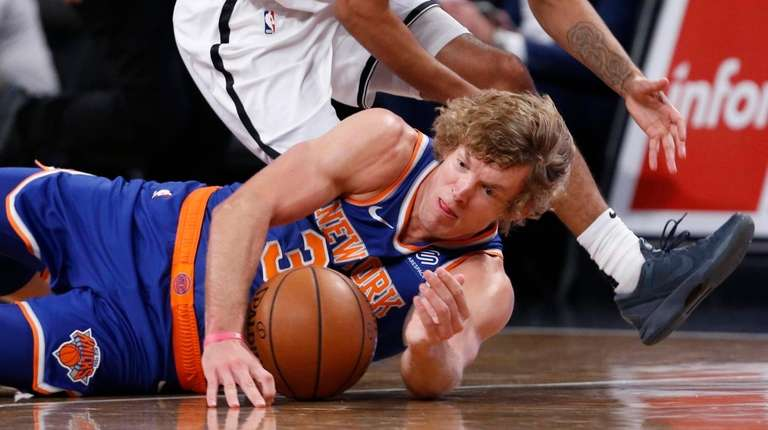 Ron Baker, shown here diving for a loose