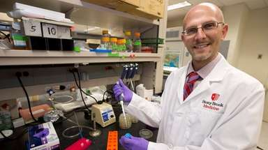 Dr. David Thanassi, molecular geneticist at Stony Brook