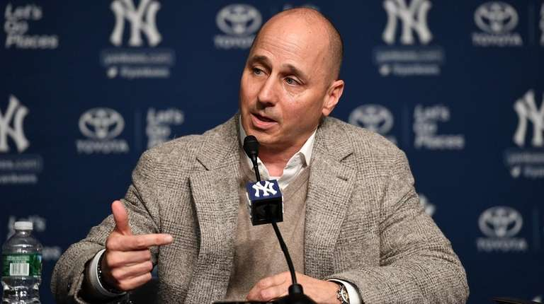 Brian Cashman, NY Yankees General Manageranswering a question
