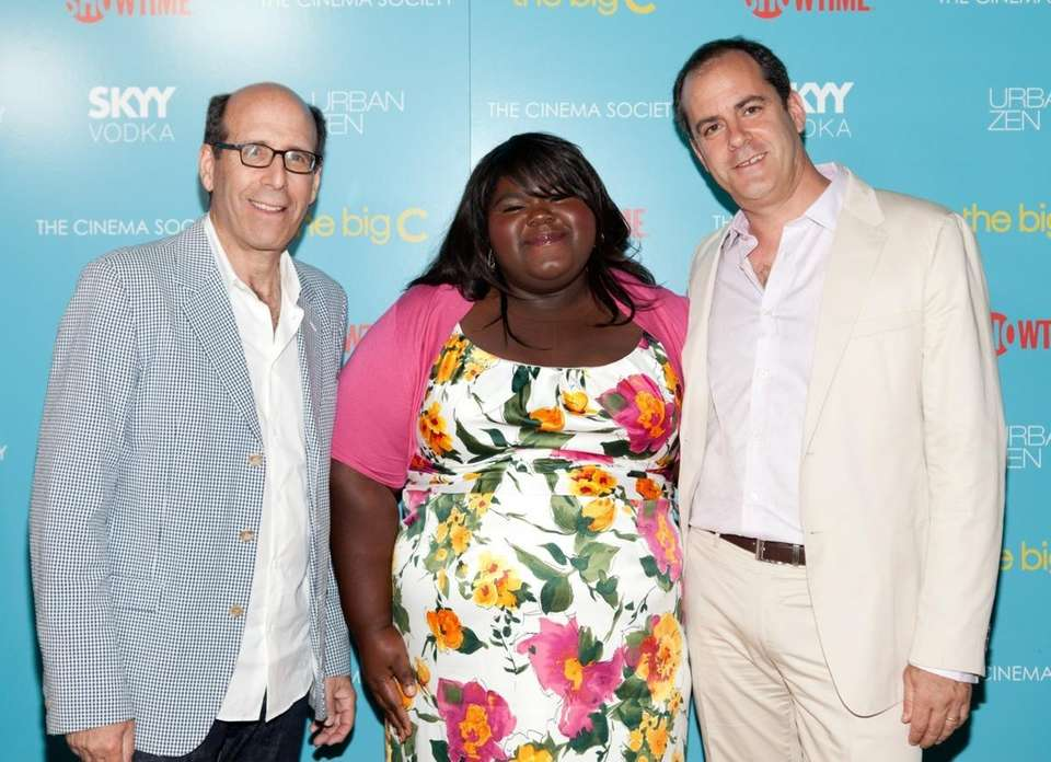 From left, Showtime CEO Matt Blank, actress Gabourey